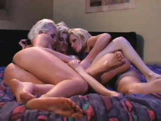 Lesbian play with groping and touching