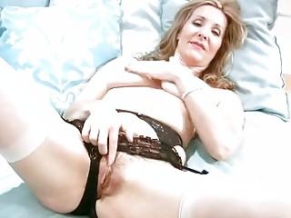 Horny Older In Underware Finger Masturbation