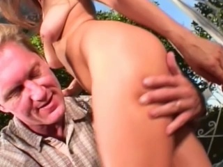 3some twat fucking outdoors with horny golden-haired sluts