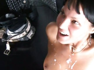 Seductive babe can't live without getting drenched in hot cock juice