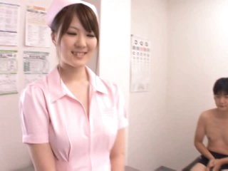 DD Cupped Momoka Nishina Loves Sucking and Tit Fucking her Patients' Dicks