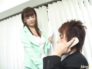 Oriental Secretary Giving A Hot Oral-stimulation