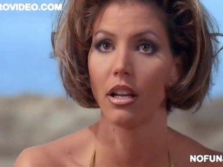 Hawt Celeb Charisma Carpenter Wearing a Hot Bikini on a Beach