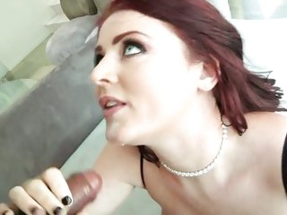 After her ass is slammed, Sophie Dee acquires a faceful