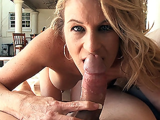 Hot Blond MILF Gianna Phoenix Sucks and Fucks a Big Cock Outdoors