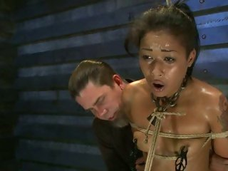 Hawt Skin Diamond receives suspended above a sybian