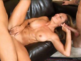 Blond Cougar Brenda James In MMF 3some