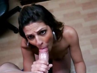 Carnal latina shoves a hard dick down her throat