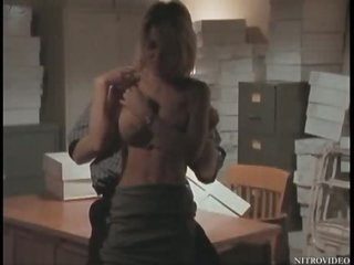 Super Busty Julia Kruis Gets Screwed On a Desk - Softcore Sex Scene