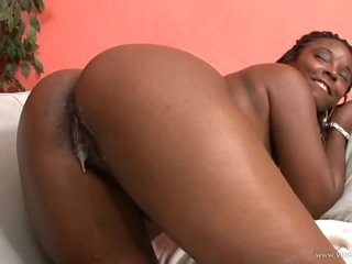 Foxy Black Beauty Stacy Adams Gets Her Wet Pussy Screwed and Creampied