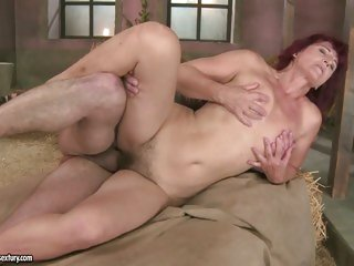 Stunning Milf Ria gets her smooth clean shaven slit screwed hard by cock