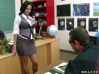 Busty Brunette hair Teacher Ava Addams Fucking Her Favorite Student