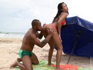 Hawt Interracial Sex In The Beach With Brazilian Babe Marcella Moraes