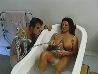British Busty MILF gets fucked in the washroom