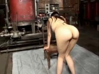 Ball gagged Sasha Grey acquires flogged