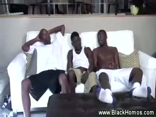 Hungry man eats monster black cock and loves it