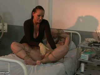 Kathia Nobili and Mandy Bright castigation hot patient
