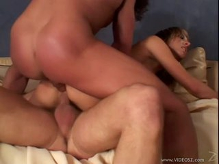 Janet Alfano enjoys a rough double penetration