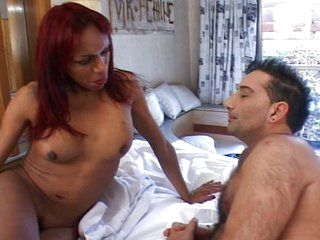 Hot tranny loves riding cock when its hard