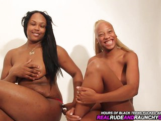Ghetto Black Lesbians Eat Pussy In Nasty Threesome