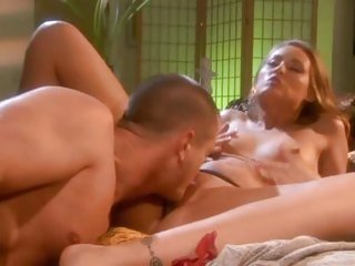 Jassie James is spurted on her hot pussy mound