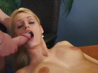 Erica Fontes gets her mouth filled with hot jizz
