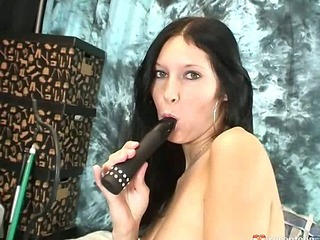 Her black vibrator