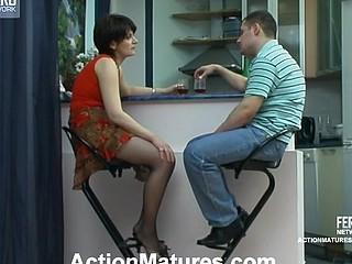 Christina&Monty violent older action