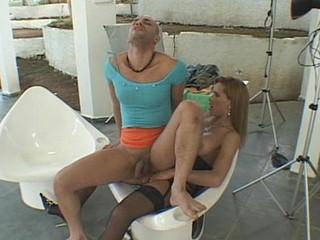 Dartilly&Tony lady-man dicking dude on movie