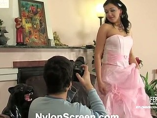 Laura&Adam sexy nylon movie scene
