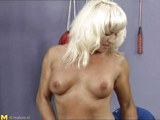 mature slut rides big cock at the gym