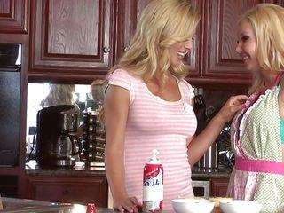 beautiful blondes are having fun