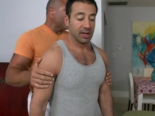 Horny dude is giving stud a lusty ramrod engulfing experience