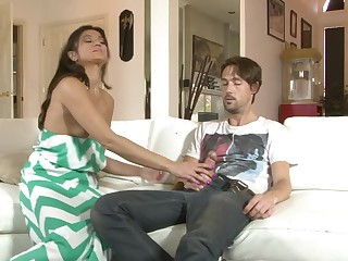 Lucky stud fucks her girlfriend's old woman with ergo influentially pleasure