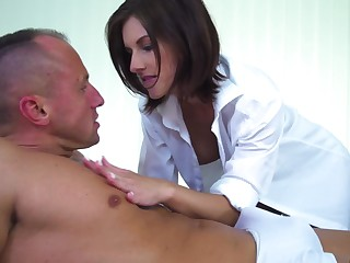 Breathtaking body on a beautiful masseuse in need of cock