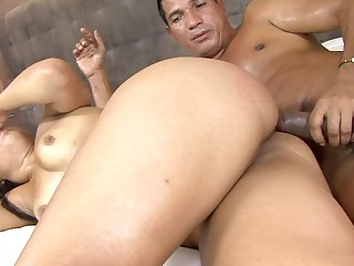 A hot Latina opens up her ass and she feels a cock inside her