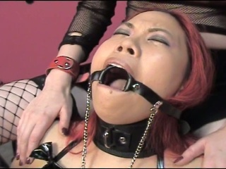 Gagged and juicy cum starving sluts enjoying hardcore torturing fun