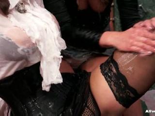 2 horny lesbians getting nasty with greasy gel