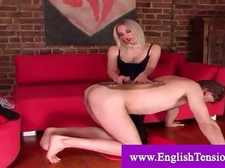 Mistress glad by her servant
