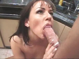 Anal sex with this slut in her kitchen