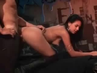 Club girl in boots fucked by a large cock