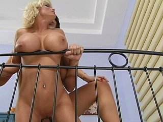 Very breasty hot mommy moans of pleasure