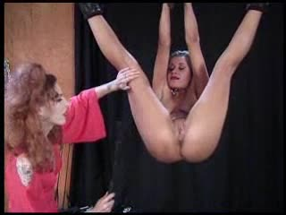 Mistress abuses her slaves in dungeon
