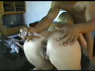 Blonde with hot curves fucked up the ass